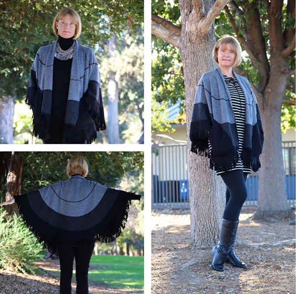 #40plusstyle Inspiration: A poncho with leggings | 40plusstyle.com