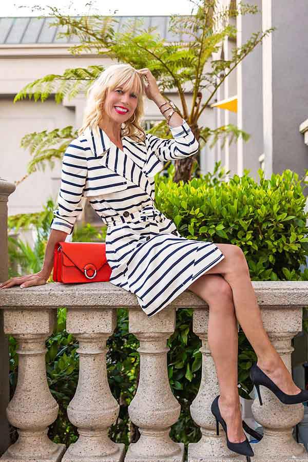 Bohemian print maxi dress | 40plusstyle.com