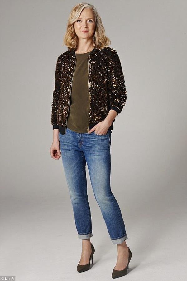 Sophistcated glamour look: Gold glittered and embellished jacket | 40plusstyle.com