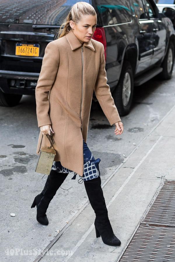 Streetstyle inspiration: classic minimalist coat | 40plusstyle.com
