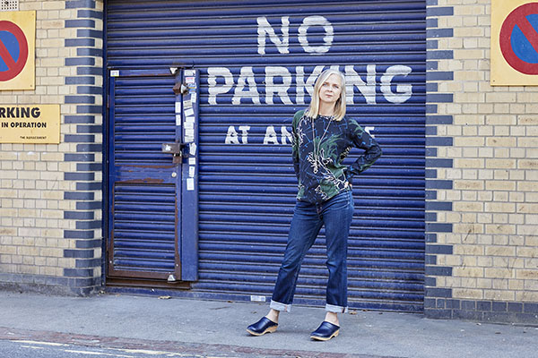 Outfit ideas on how to wear patterns and denim pants | 40plusstyle.com