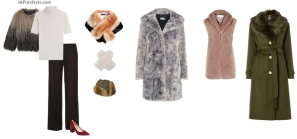 How to look fashionable in winter: warm faux fur coats and scarves | 40plusstyle.com