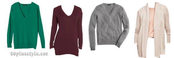 classic capsule wardrobe sweaters 40plusstyle.com
