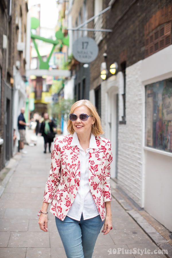 What I wore in Covent Garden, London   40plusstyle.com