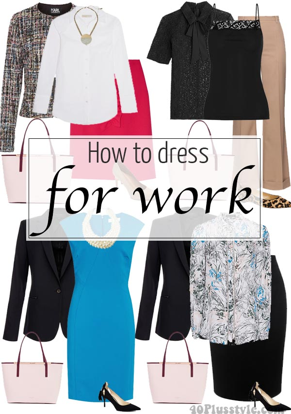 How to dress for work - A capsule wardrobe that is professional, comfortable AND chic! | 40plusstyle.com
