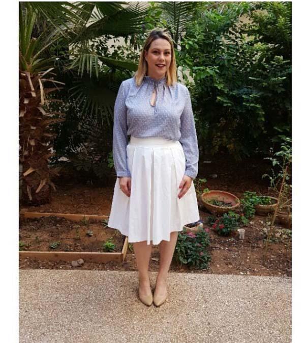 #40plusstyle inspiration: white skirt | 40plusstyle.com