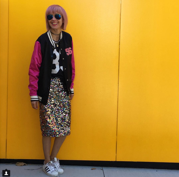 #40plusstyle inspiration: glitter sequined skirt | 40plusstyle.com