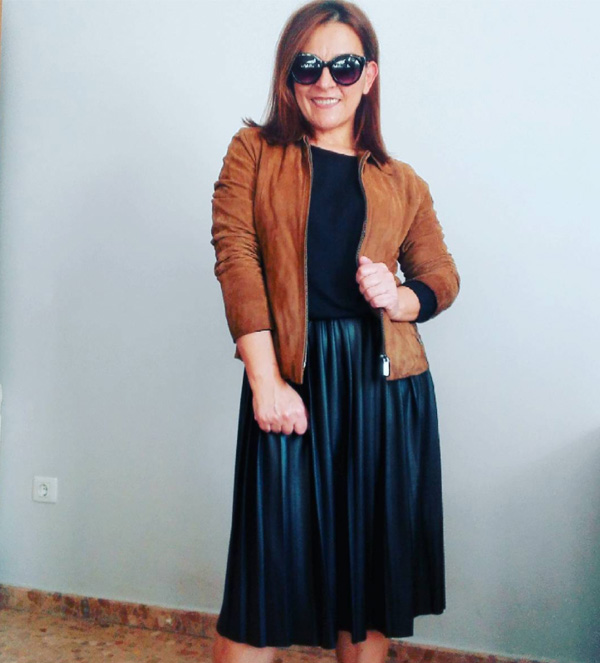 #40plusstyle inspiration: brown suede jacket| 40plusstyle.com