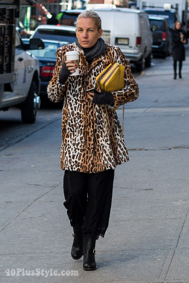 Streetstyle inspiration: Printed coats | 40plusstyle.com