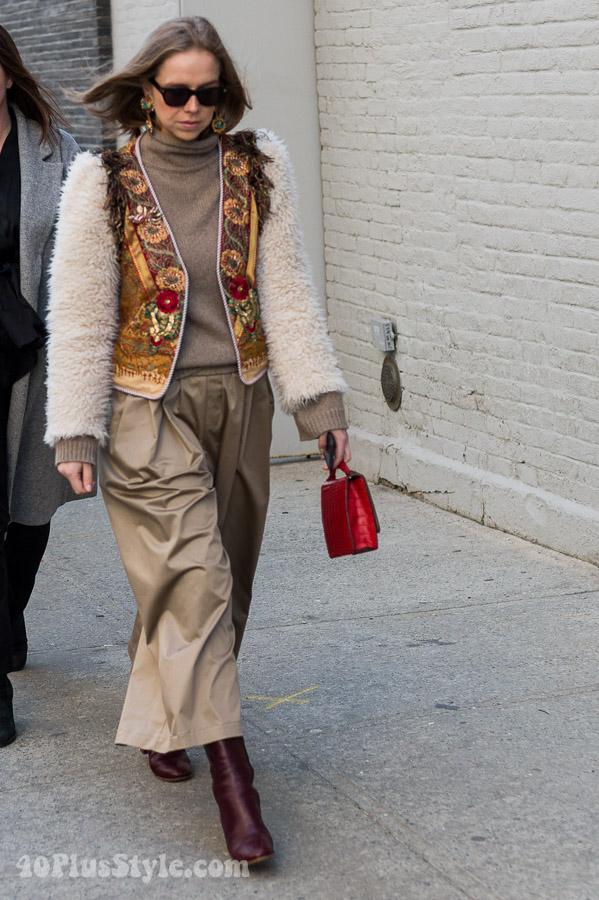 Urban boho outfit inspiration | 40plusstyle.com