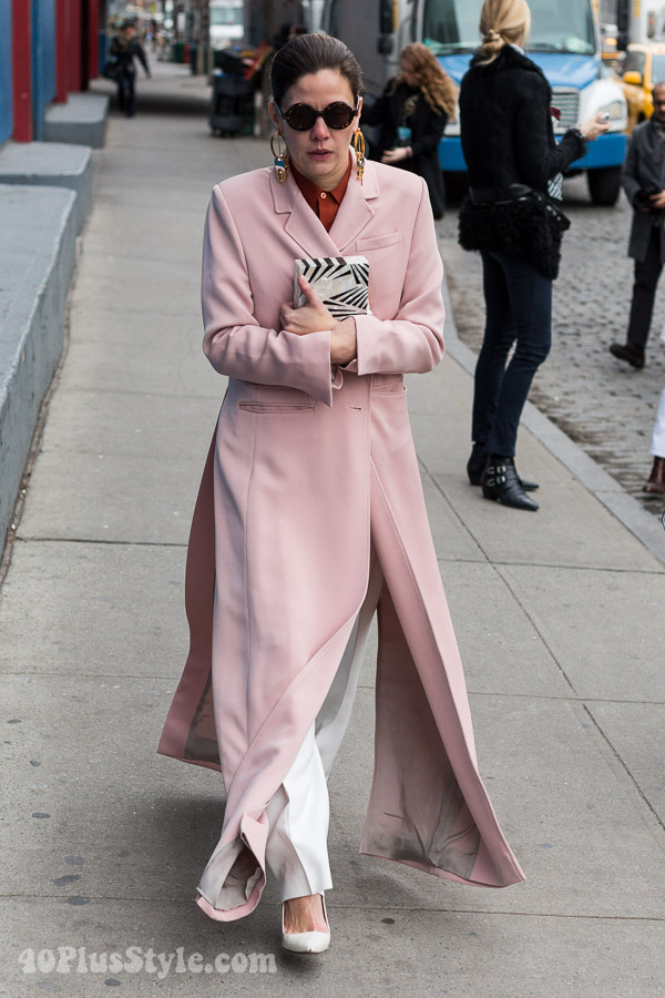 Streetstyle: coats - 10 fabulous looks, which is your favorite? | 40plusstyle.com
