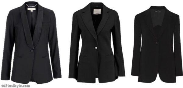 winter capsule wardrobe: dark blazer | 40plusstyle.com