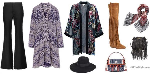 winter capsule wardrobe : bohemian | 40plusstyle.com