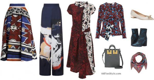 eclectic artsy winter capsule wardrobe | 40plusstyle.com