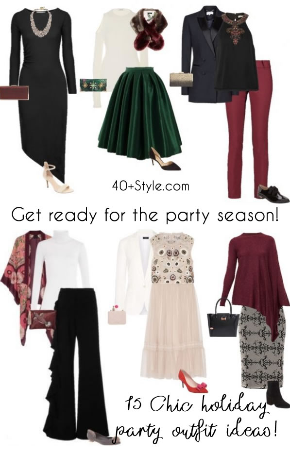 holiday party outfits - 15 chic looks to choose from | 40plusstyle.com