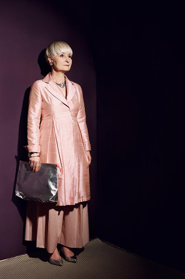 All pink outfit idea and a statement necklace | 40plusstyle.com