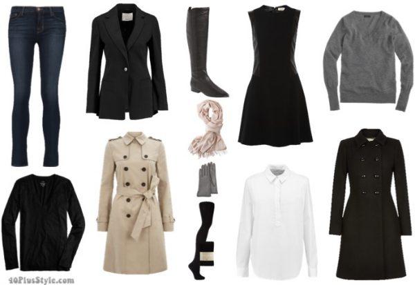 winter capsule wardrobe | 40plusstyle.com
