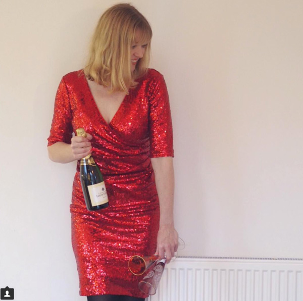 Red sequin dress | 40plusstyle.com
