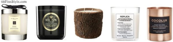 christmas holiday gift guide: candles luxury high-end candles | 40plusstyle.com