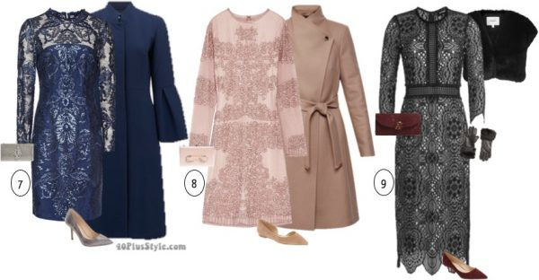 sequin lace chic long sleeve party dress   40plusstyle.com