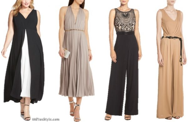 Wedding outfit for parent: jumpsuit looks | 40plusstyle.com