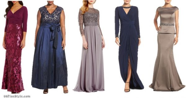 mother of the bride what to wear chic long dress | 40plusstyle.com