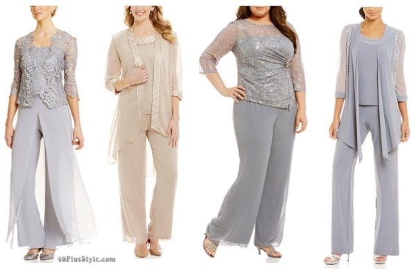 Mother of the bride or groom style: pant set chiffon | 40plusstyle.com