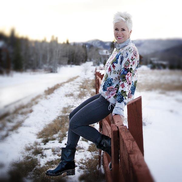 floral jacket | 40plusstyle.com