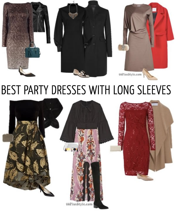 The best party dresses with long sleeves for winter - 15 different outfit ideas!