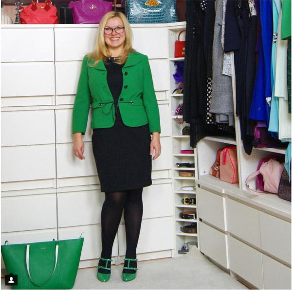 Green blazer | 40plusstyle.com