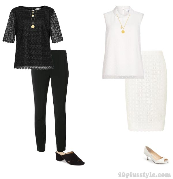 Monochrome outfits | 40plusstyle.com