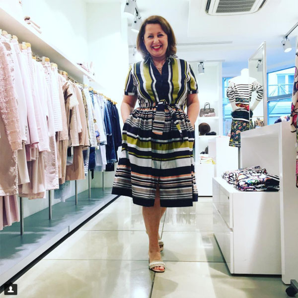 Striped dress for women  40plusstyle.com