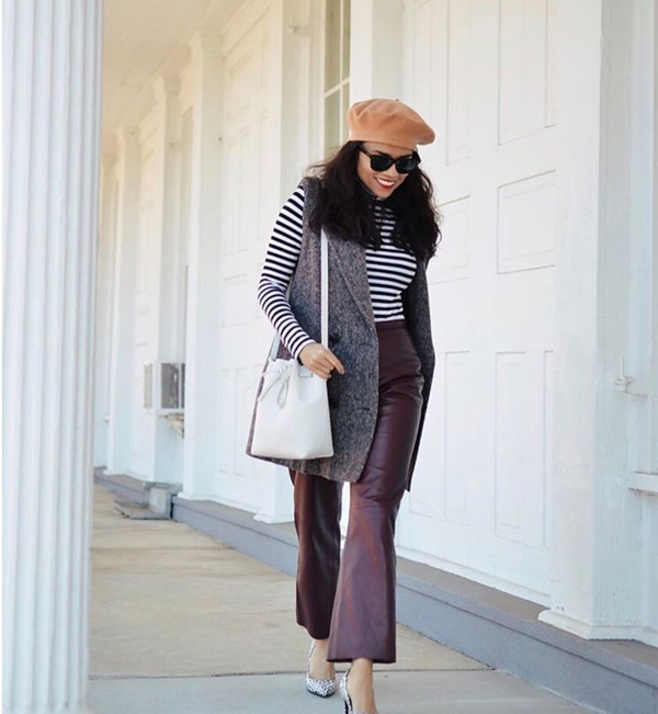 Chic striped outfit | 40plusstyle.com