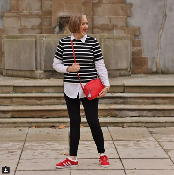 Layering with stripes | 40plusstyle.com