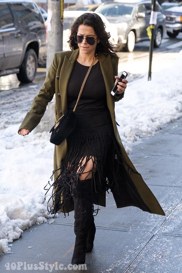 40+Style inspiration: Black fringe | 40plusstyle.com