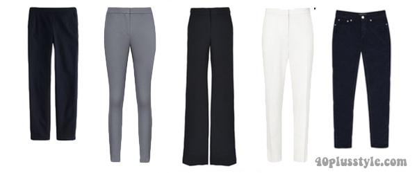 pants to create a minimalist capsule wardrobe | 40plusstyle.com