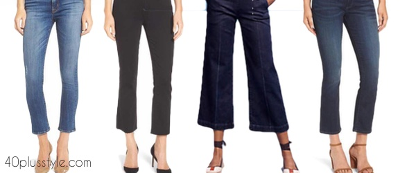 How to wear cropped flared jeans over 40 | 40plusstyle.com