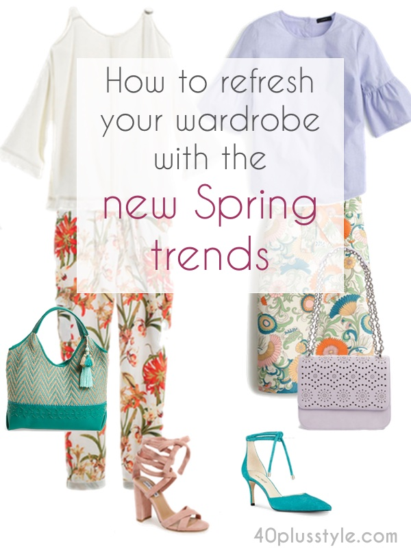 How to refresh your wardrobe with the new spring spring trends | 40plusstyle.com