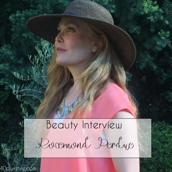 Beauty interview: Rosemond Perdue. Favorite makeup and beauty products for women over 40 | 40plusstyle.com