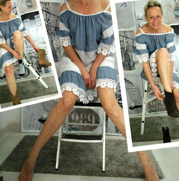 cold shoulder summer dress | 40plusstyle.com