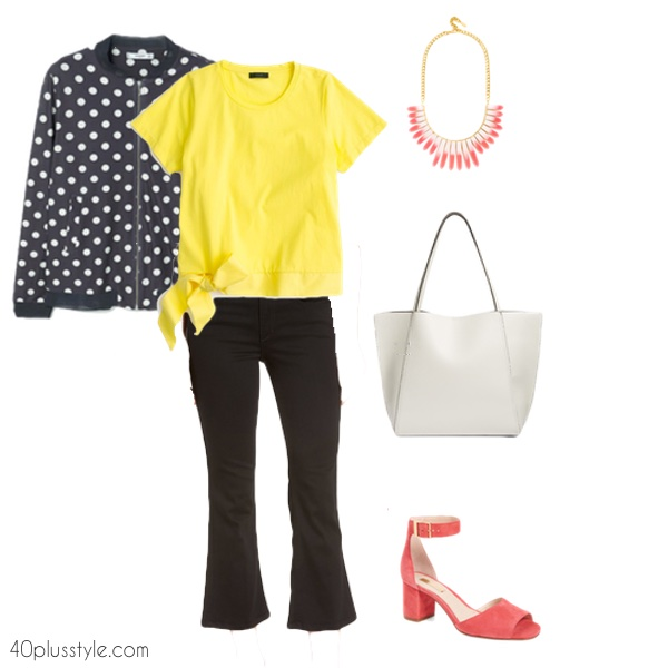 How to style the new crop flare jeans   40plusstyle.com