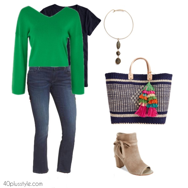 How to wear cropped flare jeans over 40   40plusstyle.com