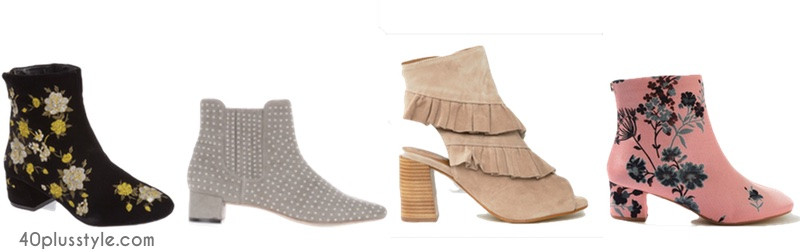 The new spring booties and how to wear them | 40plusstyle.com