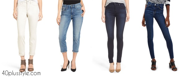 Tips on wearing high waisted jeans over 40 | 40plusstyle.com
