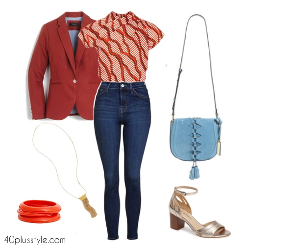 How to wear high waisted jeans over 40 | 40plusstyle.com