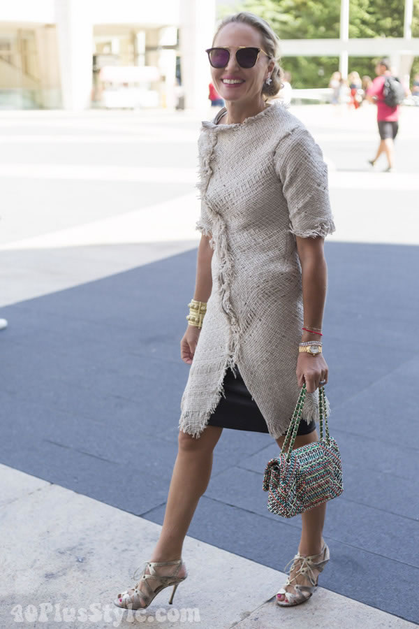 rustic dress | 40plusstyle.com