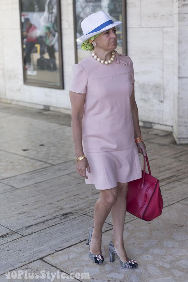 drop waist dress | 40plusstyle.com