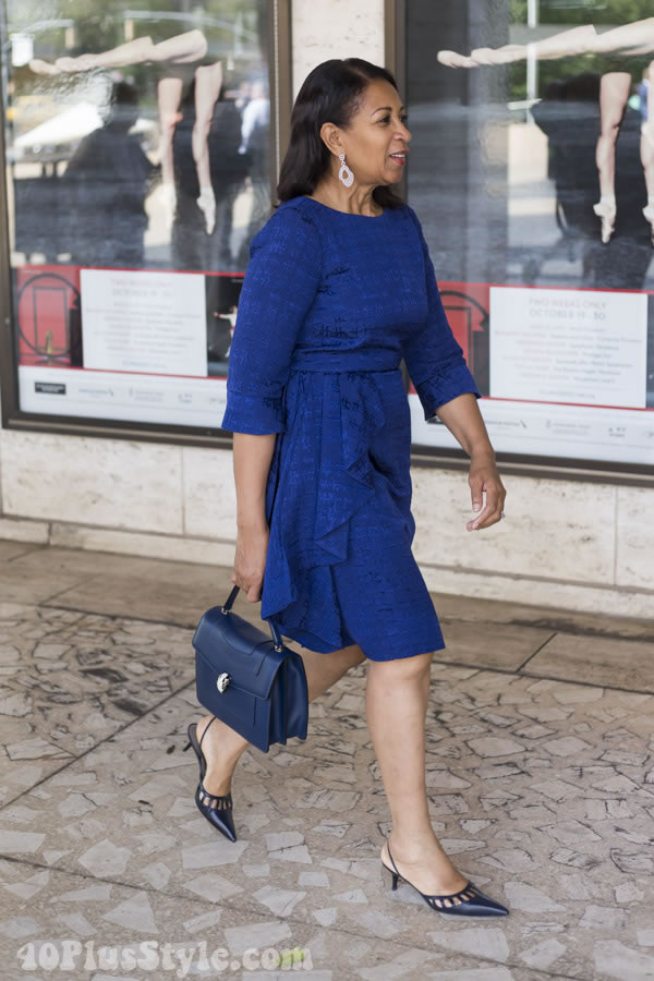 asymmetrical dress | 40plusstyle.com