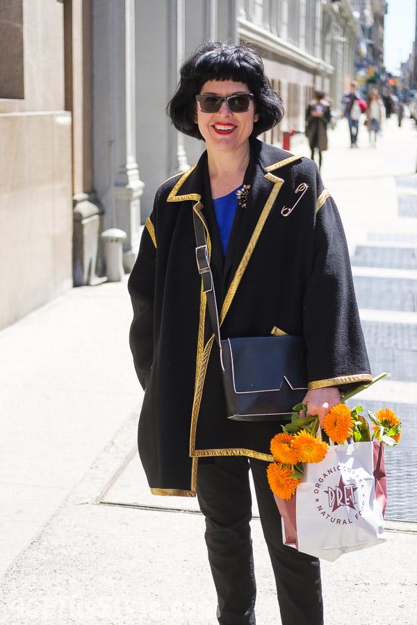 Vintage coat | 40plusstyle.com