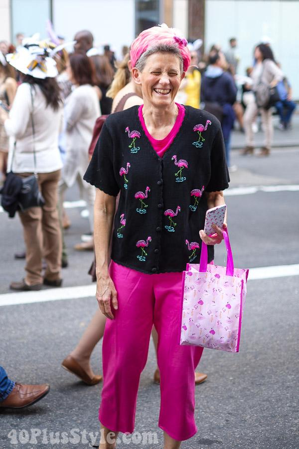 Pink flamingos prints | 40plusstyle.com